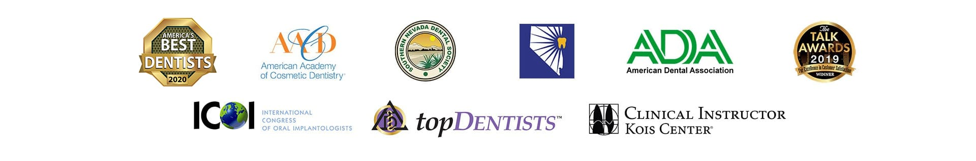 The proud dental affiliations of James B Polley, DDS - Summerlin Dentist