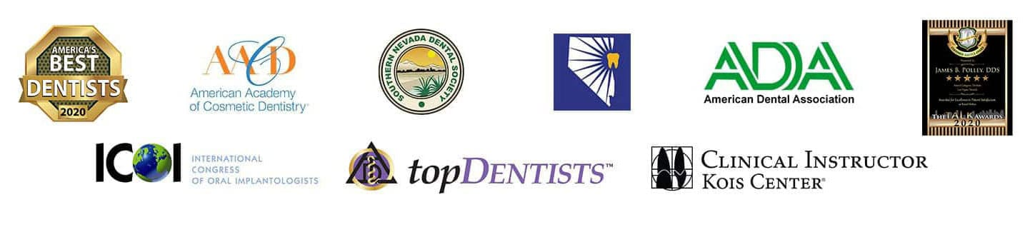 The proud dental affiliations of James B Polley, DDS - Las Vegas Dentist